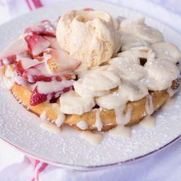 Waffle de Frutas y Leche