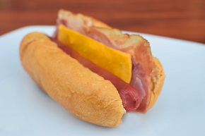 Bacon cheese dog