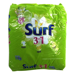 Surf Detergente Limon En Polvo 3 En 1