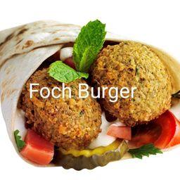 Sándwich Shawarma Mixta con Falafel