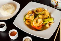 Curry Tailandés Verde con Langostinos