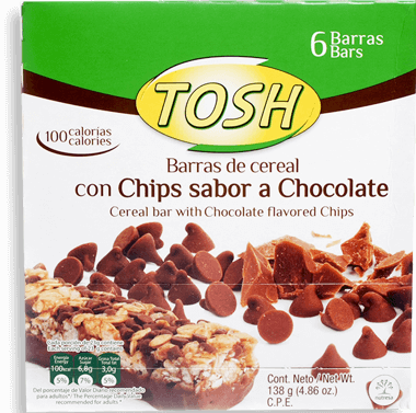 Tosh Barras De Cereal Chocolate Chips