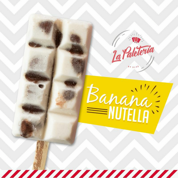 Paleta de Banana y Nutella