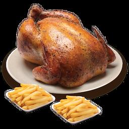 Pollo Entero y Papas