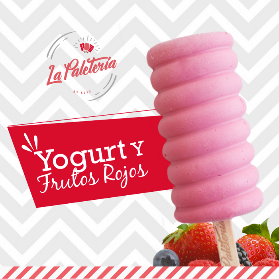 Paleta de Yogurt y Frutos Rojos